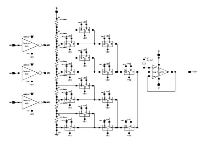 3-битный ЦАП