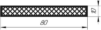 Сечение образца для испытаний на статический изгиб