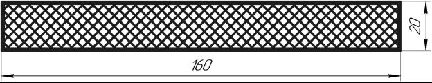 Сечение детали, геометрически подобной образцу для испытаний на статический изгиб