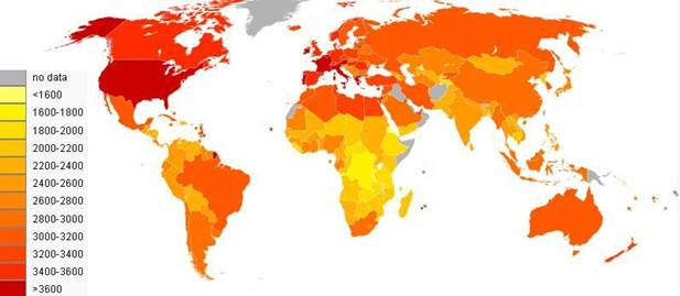 Описание: Energy consumption (kcal person day) per country in 2001-2003.JPG