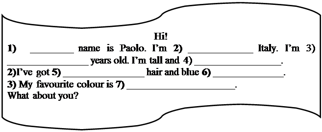 Блок-схема: перфолента: Hi!