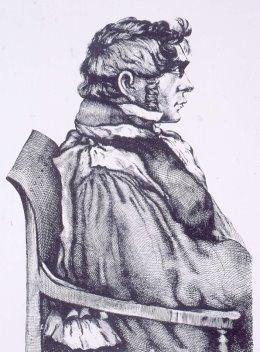 Ernest Alexandre Lauth, professeur de physiologie à la Faculté de médecine de Strasbourg, mort en 1837 : [Mi-corps, profil à dr.]