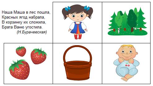 Стихи для детей схемы