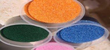 Как окрасить песок