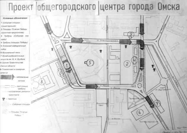 Схема городского центра Омска