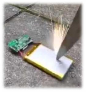 Тест на протыкание аккумулятора