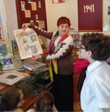Экскурсия Давыдовой Елены Степановны в нашем школьном музее «Учителя — фронтовики»