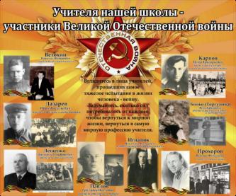 Делаю стенд «Учителя нашей школы — участники Великой Отечественной войны