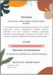 Карта «степной пищухи»