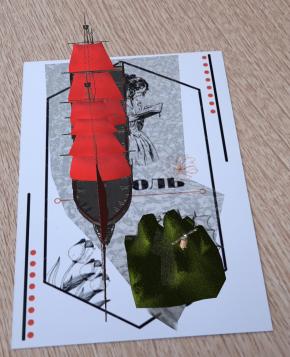 Вид модели произведения «Алые паруса» с мобильного телефона